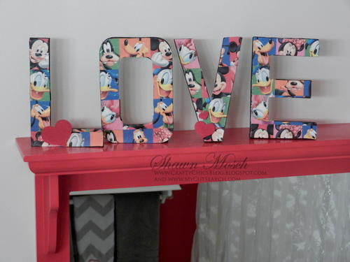 Decoupaged Letters Decor