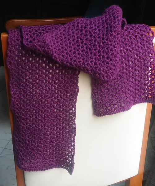 Gorgeous V-Stitch Scarf