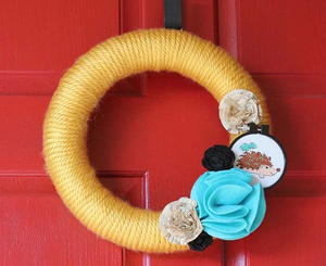 Spring Woodland Yarn Wreath
