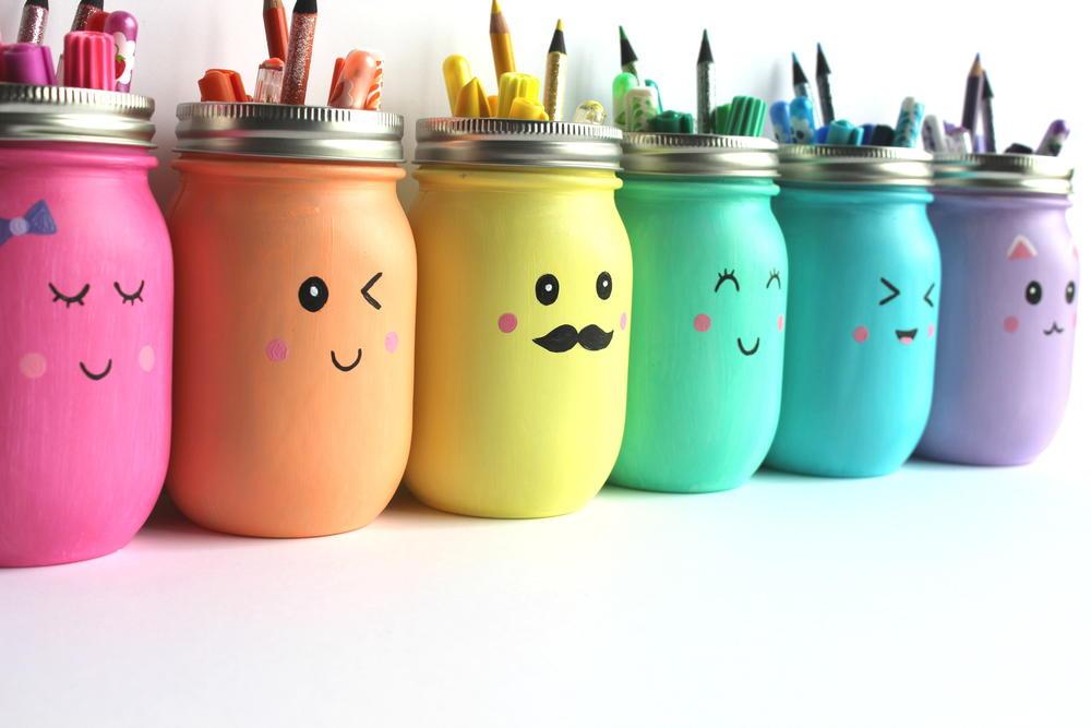 Kawaii Inspired DIY Painted Mason Jar AllFreeKidsCraftscom