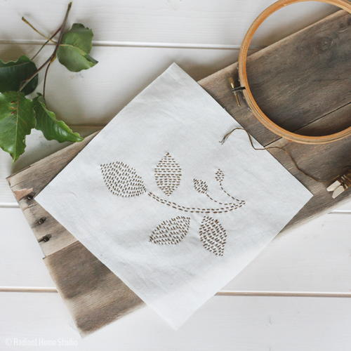 Free Leaf Embroidery Pattern