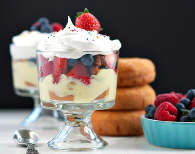 Almond Berry Donut Trifle