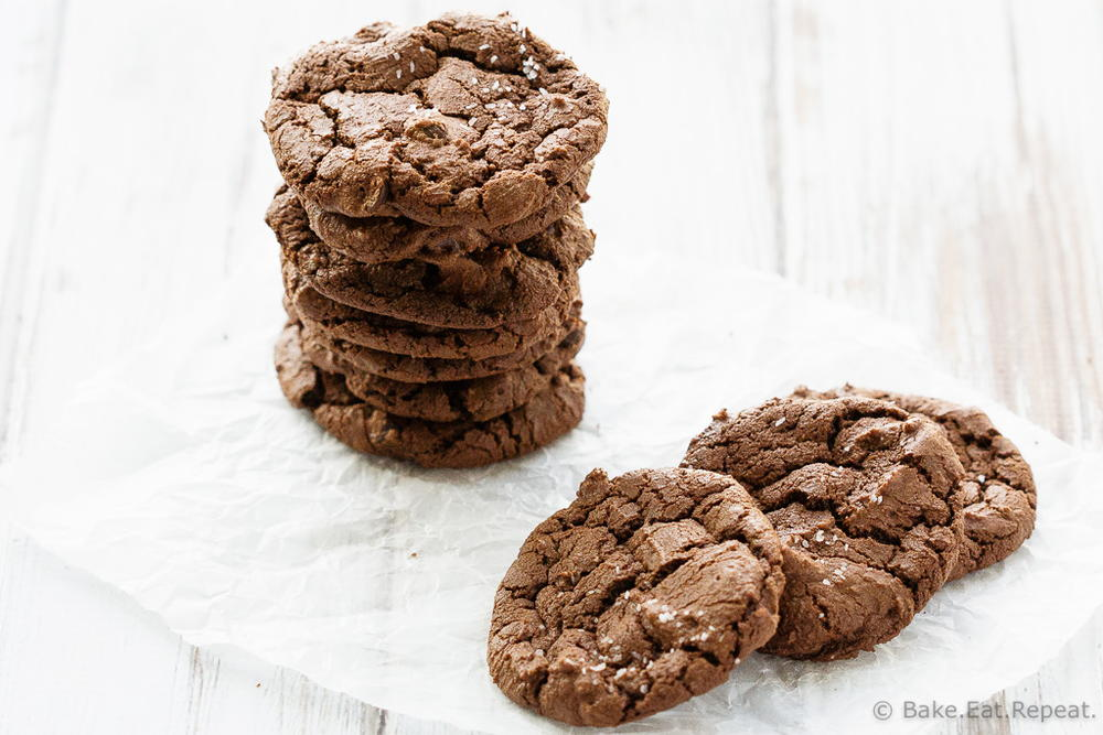Salted Double Chocolate Cookies | TheBestDessertRecipes.com
