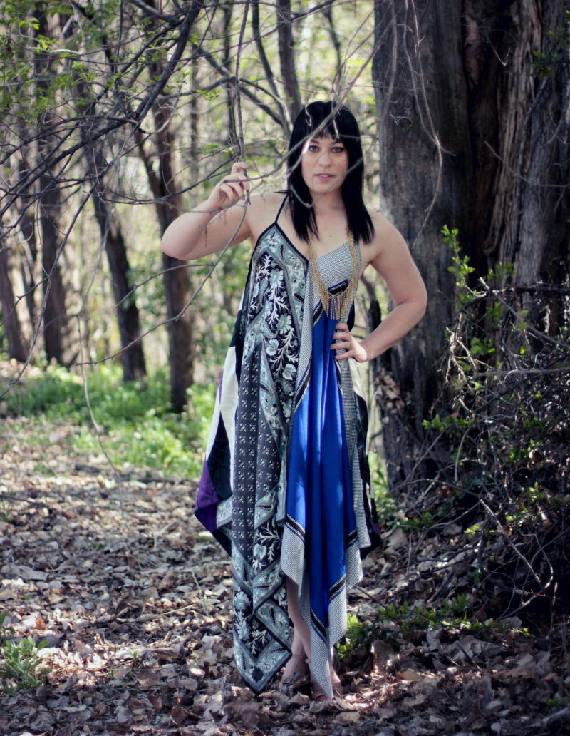 Boho Scarf Maxi Dress Allfreesewing Com