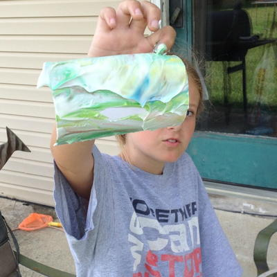 Marbling Paper Using Shaving Cream