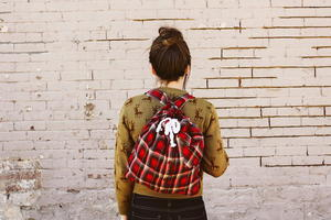 Plaid DIY Backpack