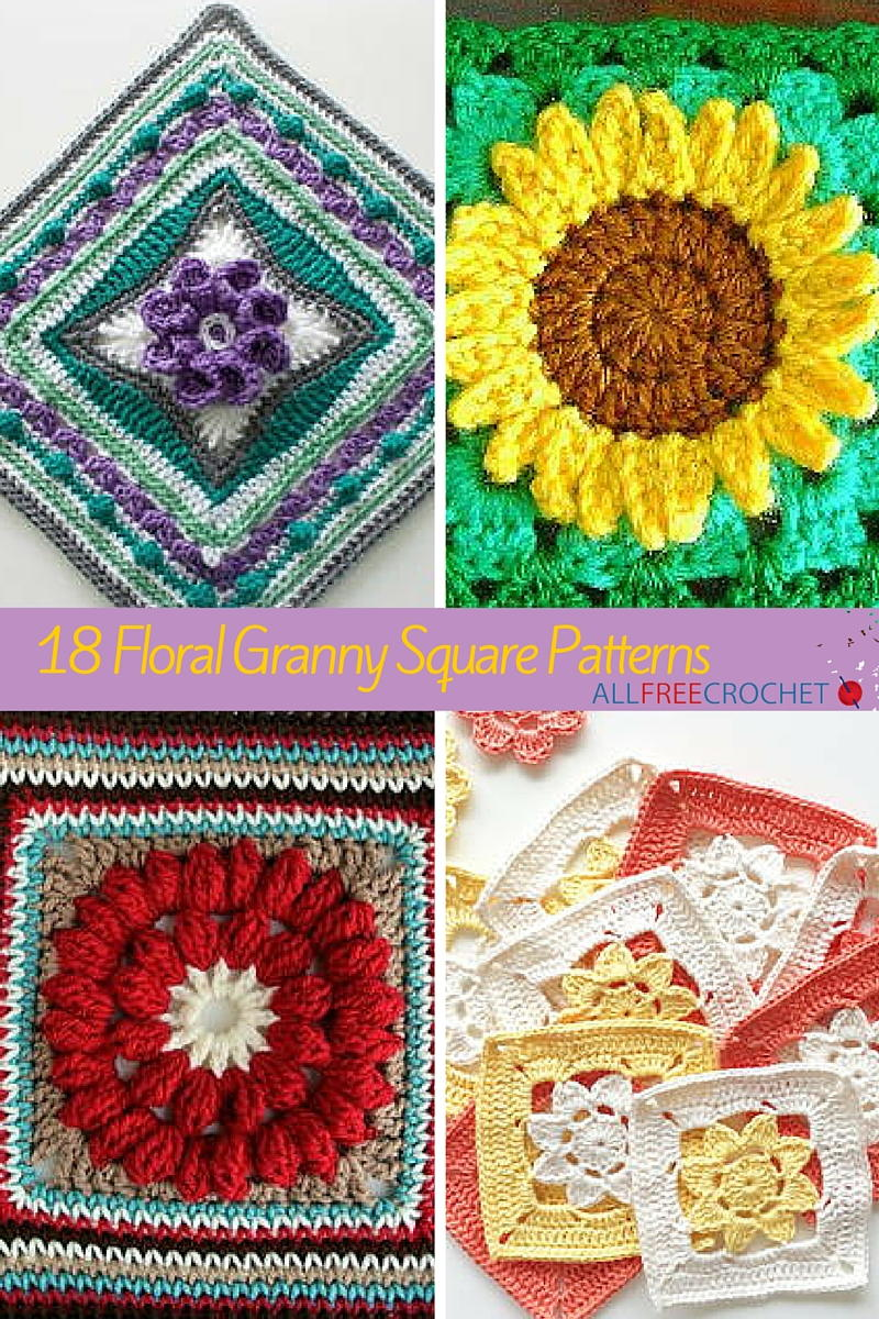 18 Floral Granny Square Patterns Allfreecrochet Com