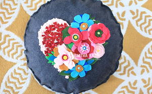 DIY Felt Flower Pillow