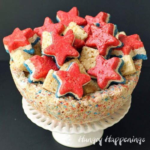 Stars and Stripes Krispie Snacks