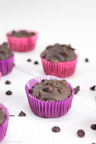 Delicious Double Chocolate Chip Banana Muffins