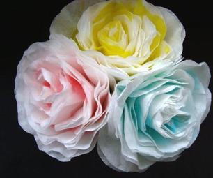 DIY Paper Roses from Coffee Filters