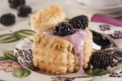 Lemon-Blackberry Cream Puffs