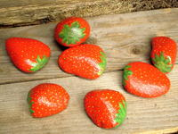 Painted Strawberry Rock Crafts