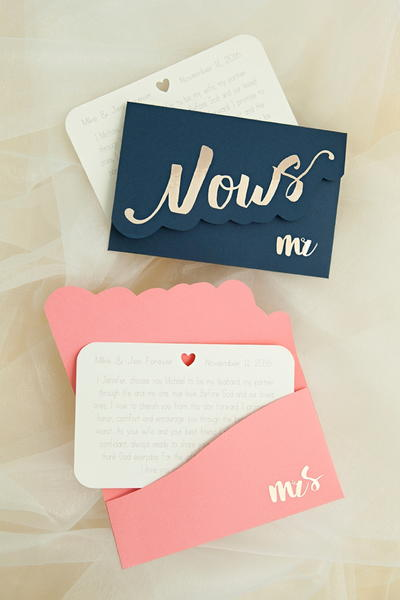 Adorable Custom Vow Notebooks