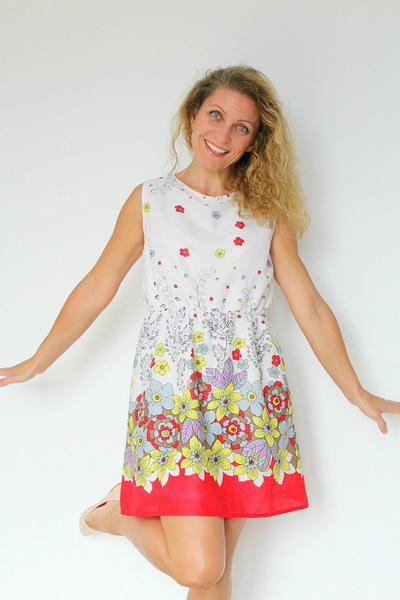 Gathered Waist Summer Dress Pattern