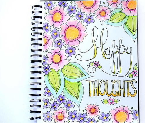 Free Happy Thoughts Printable Coloring Page  Video