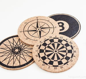 Anthropologie-Inspired Cork Coasters