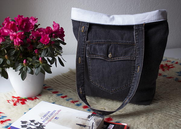 Upcycled Denim Tote Bag