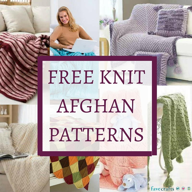 Free Knit Afghan Patterns : 33 Free Knit Afghan Patterns FaveCrafts.com