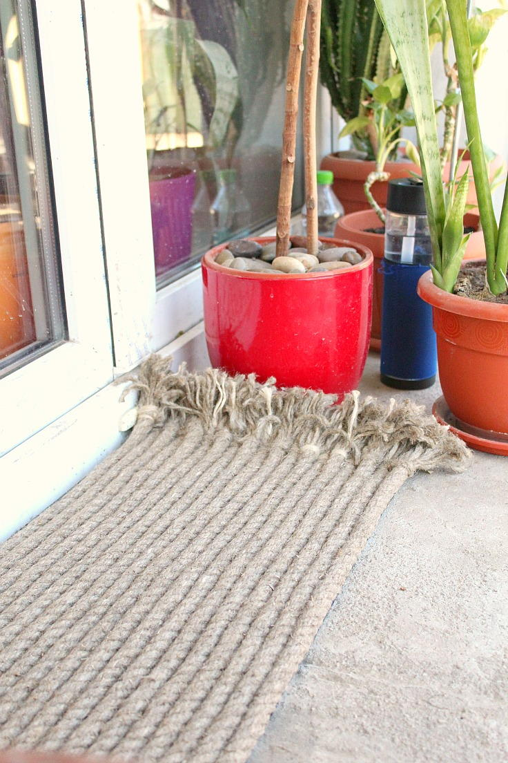 Diy Outdoor Rug With Rope Diyideacenter Com