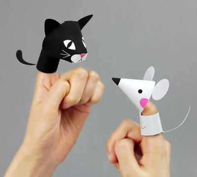 Adorable Animal Printable Finger Puppets