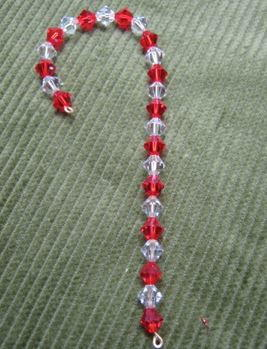 Crystal Candy Cane Ornament