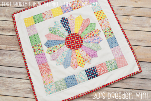 S dresden plate mini quilt favequilts