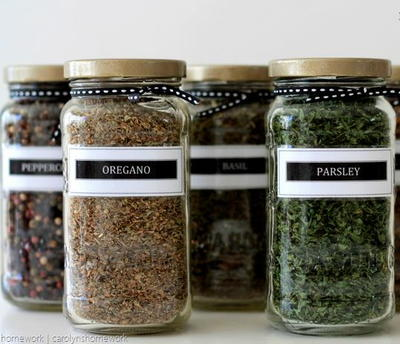 Upcycled Tuscan Spice Jars