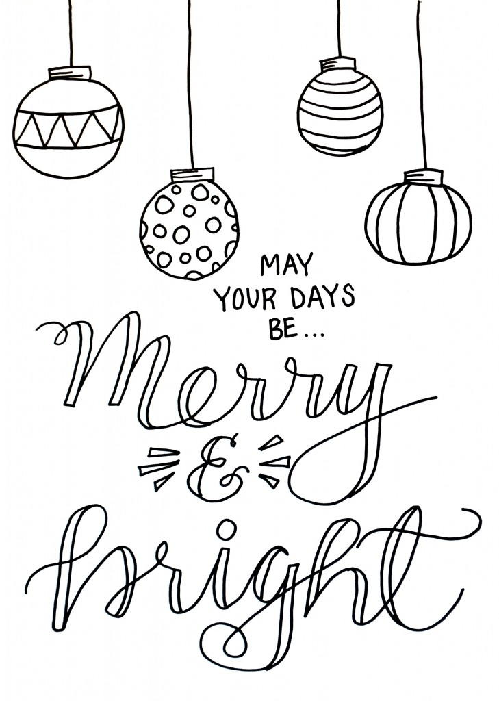 merry christmas signs coloring pages - photo#29