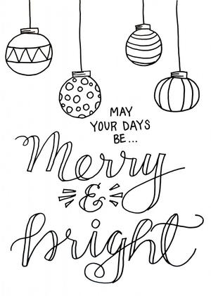 christmas baubles adult coloring page  allfreechristmascrafts