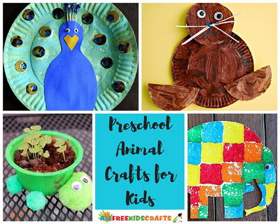 Preschool Animal Crafts for Kids