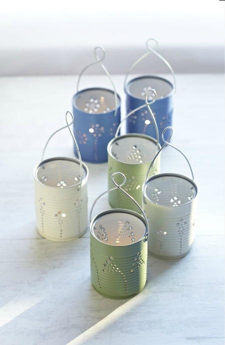 Romantic Tin Can Luminaries