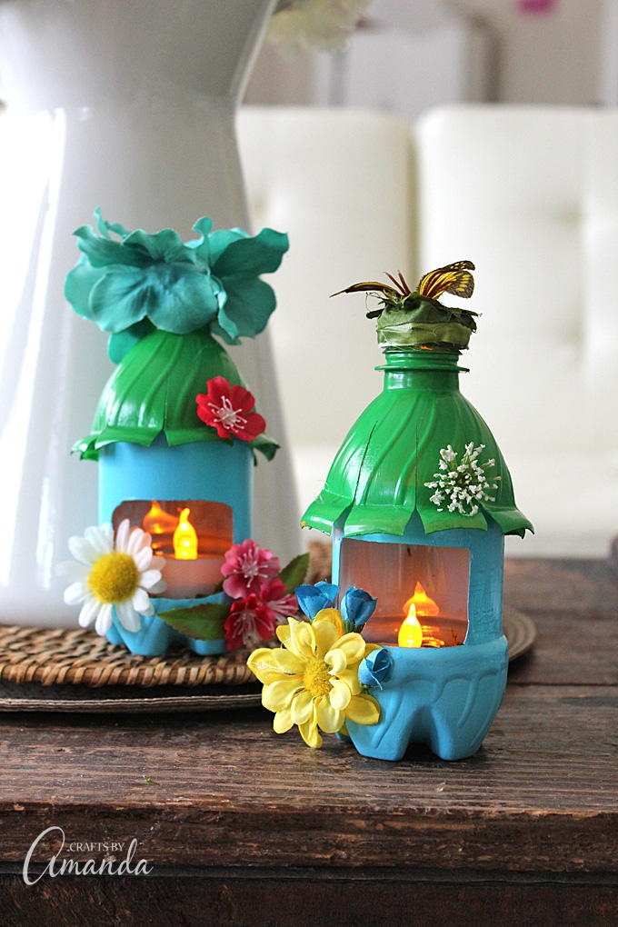 50 recycle crafts for kids for Recycle project ideas