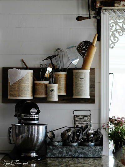 Tin Can DIY Organizer