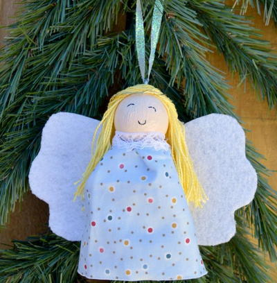 Glowing Angel DIY Ornament