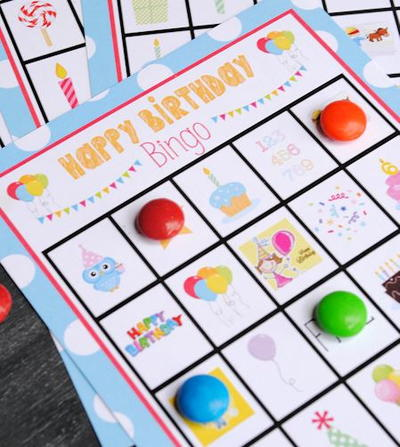 Free Printable Birthday Bingo Cards