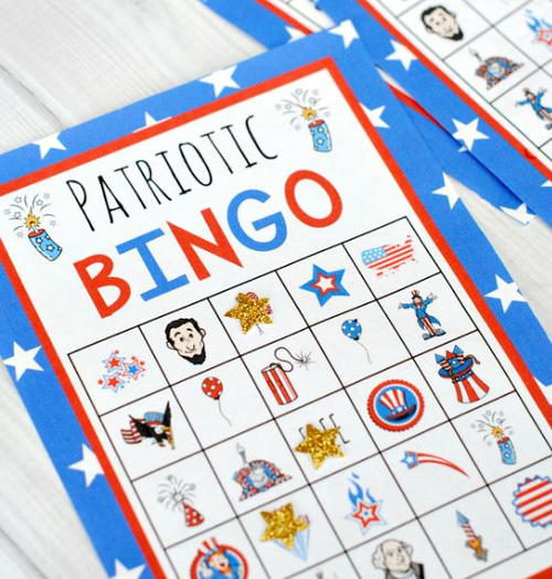 Fun 4th of July Printable Bingo Cards