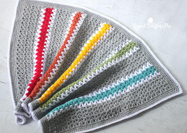 Quick And Easy Rainbow V Stitch Babyghan