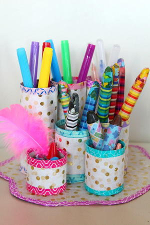 Thrifty DIY Pencil Holder