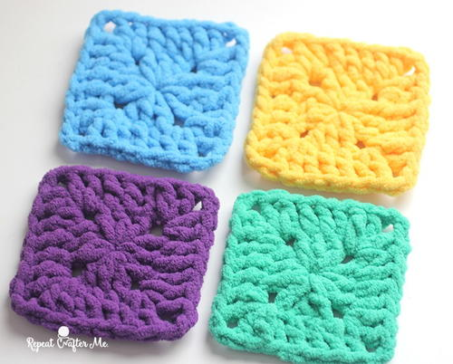Bright and Bulky Crochet Granny Squares