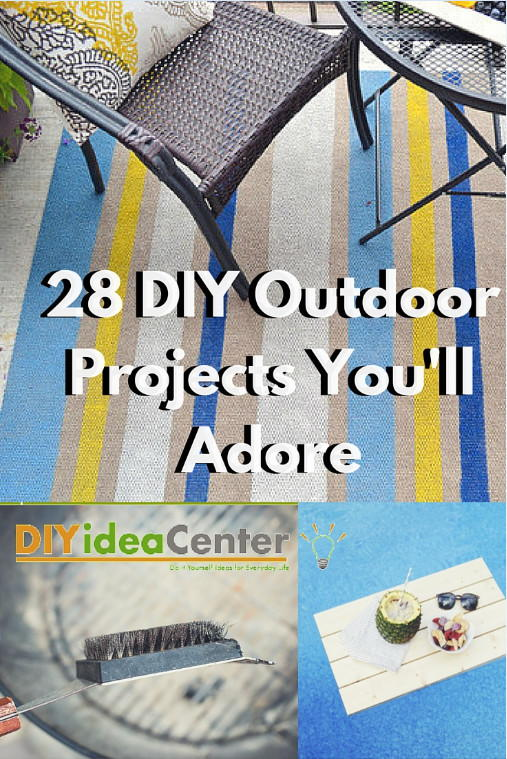 28 DIY Outdoor Projects Youll Adore