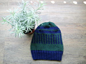 Easy Striped Knitted Hat