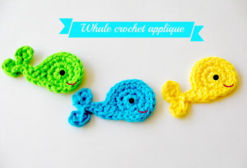 Whale Applique Crochet Pattern