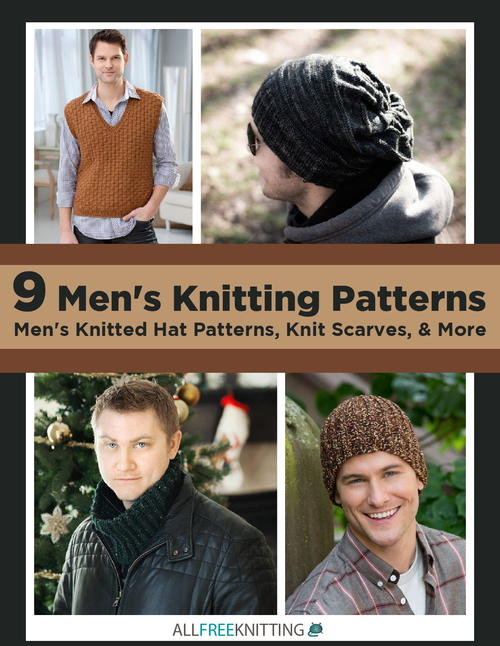 9 Mens Knitting Patterns Mens Knitted Hat Patterns Knit Scarves  More Free eBook