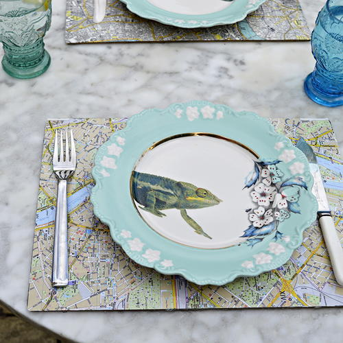 Map Placemat Decoupage Idea