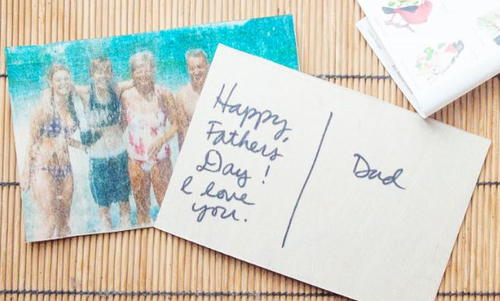 Fathers Day Photo Postcard
