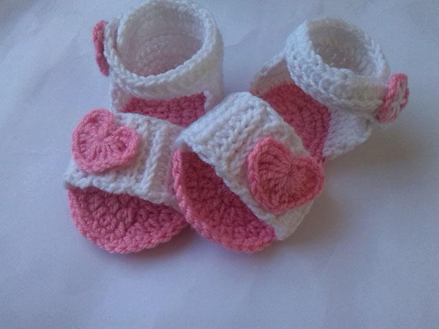 Free Crochet Pattern Baby Boy Vest : Baby Sandal Crochet Pattern FaveCrafts.com
