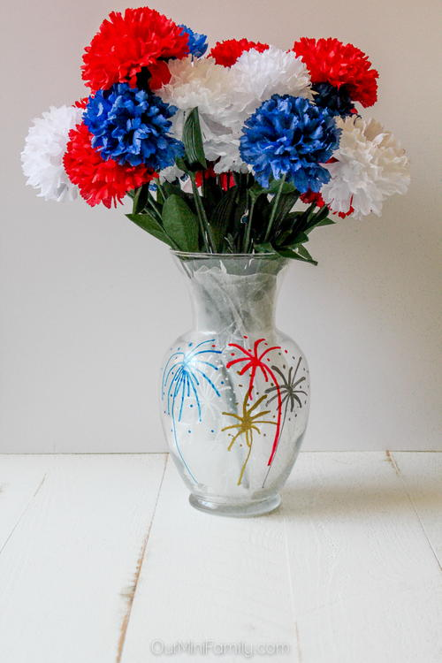July 4th Firework Vase