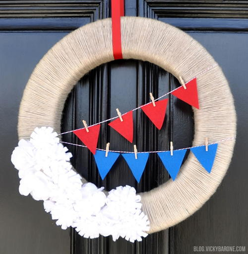 Easy Americana DIY Wreath