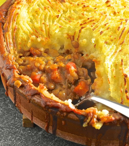 Old-Fashioned Lentil Shepherds Pie